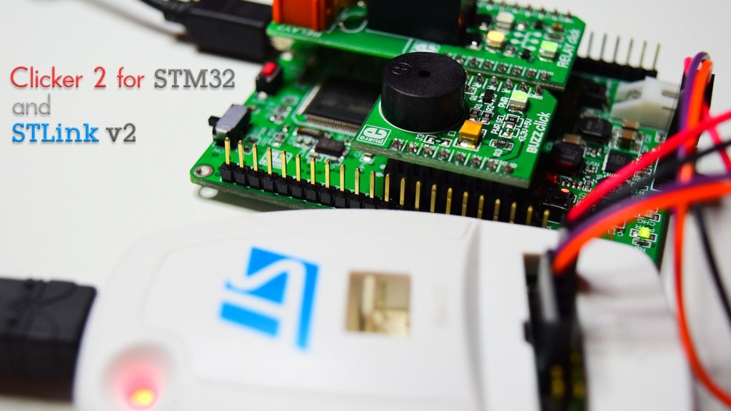 Mikroe Clicker 2 for STM32 and STLink v2