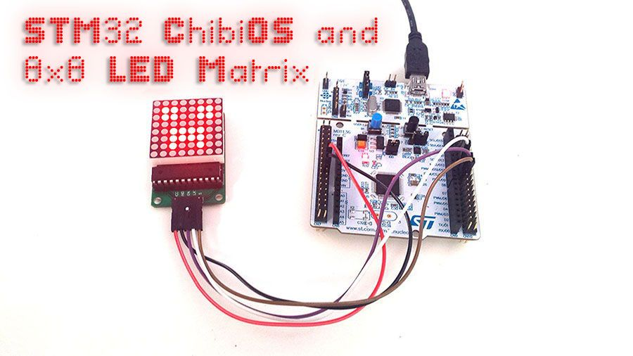 STM32, ChibiOS and 8x8 LED Matrix
