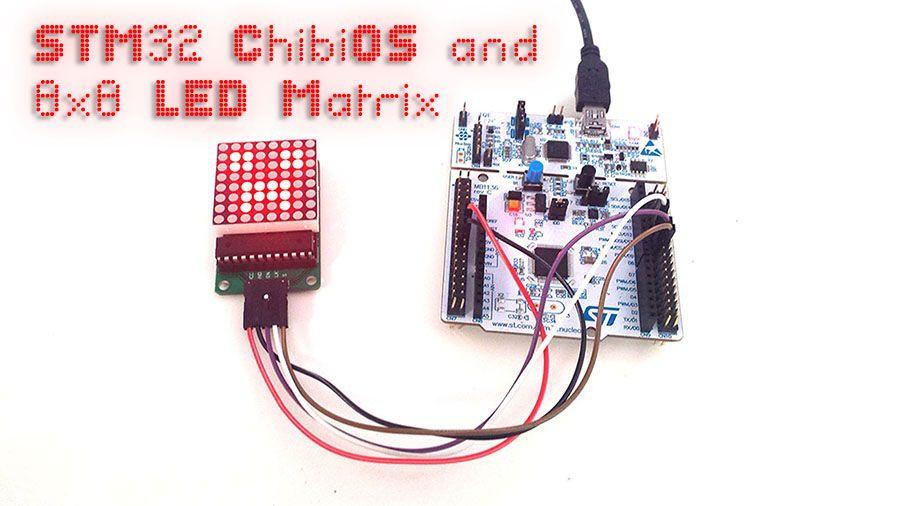 STM32, ChibiOS and a 8x8 LED Matrix